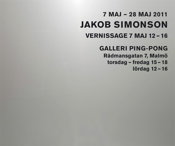 Jakob Simonson at Galleri Ping-Pong